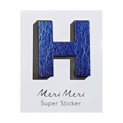 H Leather-like Super Sticker