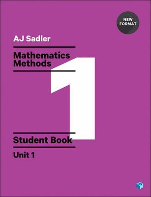 Mathematics Methods Student Book with Code Unit 1 - 1st Ed Revised New Format - SECONDHAND