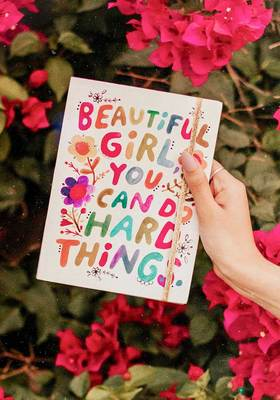 Journal Beautiful Girl You Can Do Hard Things