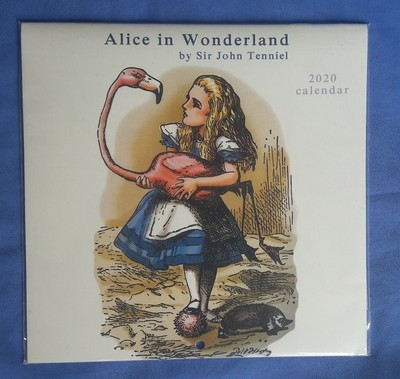 2020 Alice In Wonderland 21x21cm Calendar