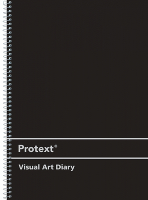 A3 Visual Art Diary 60 Sheets Protext Acid Free Silver Spiral Black - 57772 - GNS