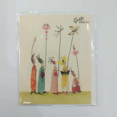 Flower Women mini card