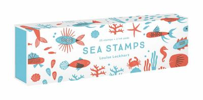 Sea Stamps - 25 Rubber Stamps and Two Ink Colors