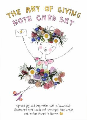 The Art of Giving Note Card Set - 16 Beautifully Illustrated Gift Cards Featuring Messages of Joy and Inspiration