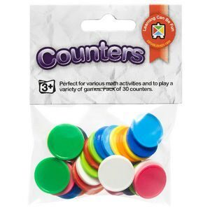 Counters Pack of 30 Assorted Colours - GNS
