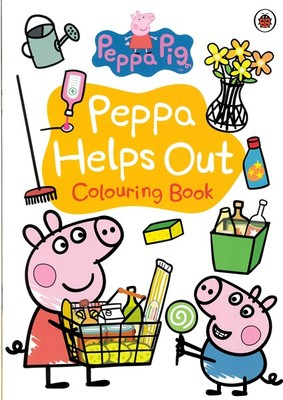 Peppa Pig Helps Out Colouring Book