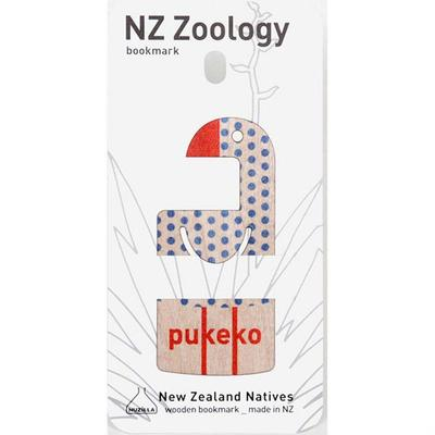 Wood Printed Bookmark Pukeko