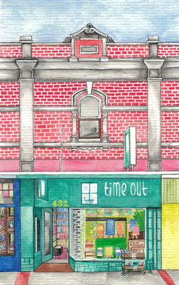 Time Out Bookstore - Illustrated gift card