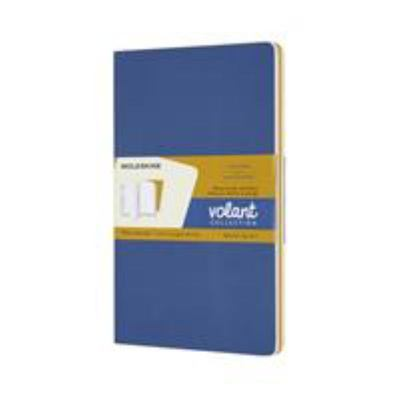 Moleskine - Volant Notebook - Plain Large Forget Me Not Blue & Amber Yellow