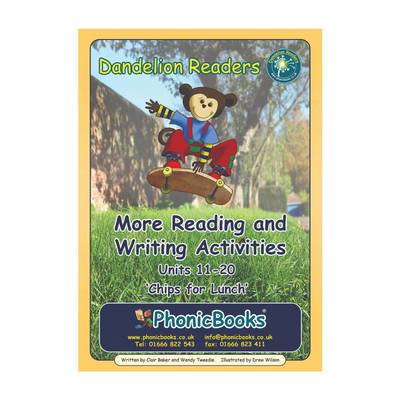 WR23 Dandelion Readers, Set 2 Units 11-20 Reading & Writing Activities - Chips For Lunch