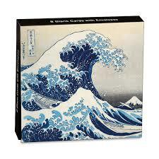 The Great Wave Mini Notecard Wallet pk8