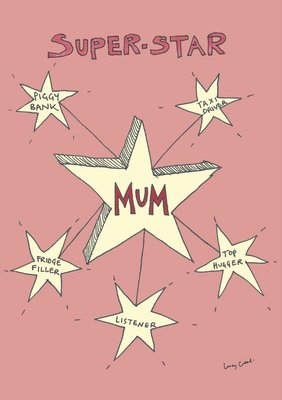 Card - Superstar Mum