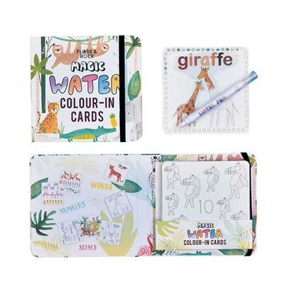 Jungle Magic Water Coloring Cards