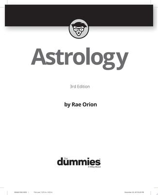 Astrology for Dummies - 3rd Ed.