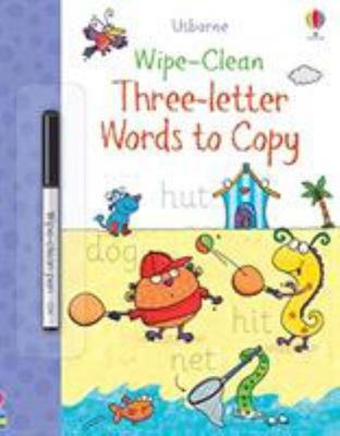 Three Letter Words to Copy (Usborne Wipe-Clean)