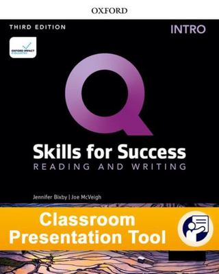 Q: Skills for Success: Intro Level Reading and Writing - Classroom Presentation Tool