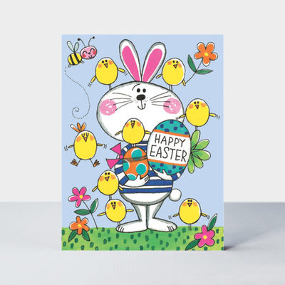 Large epk52 pack of note cards happy easter bunny chicks 640x640