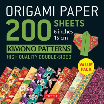 Origami Paper 200 Sheets Kimono Patterns 6 (15 Cm) inc Instructions for 8 Projects Included