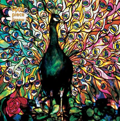 Displaying Peacock - Louis Comfort Tiffany: 1000-piece Jigsaw Puzzle Flame Tree