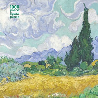 Wheatfield with Cypress - Vincent Van Gogh: 1000-piece Jigsaw Puzzle Flame Tree