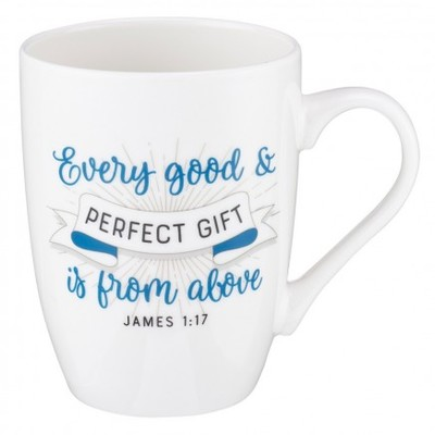 Mug Every Good & Perfect Gift White/Blue James 1:17