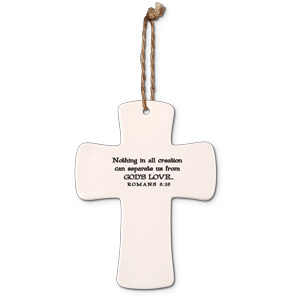 Love ceramic cross Romans 8:39
