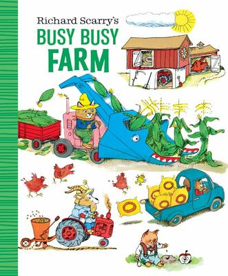 Richard Scarry's Busy Busy Farm (LGB Little Golden Book)