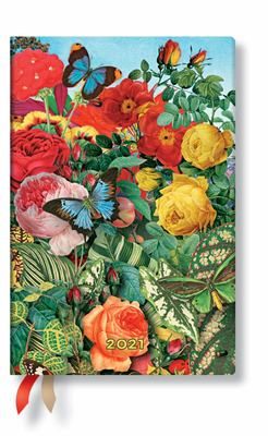 Diary 2021 Paperblanks  Butterfly Garden, Mini, Day-at-a-time