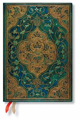 Diary 2021 Paperblanks  Turquoise Chron, Midi, HOR - Week-at-a-time
