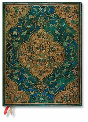 Paperblanks Diary 2021 - Turquoise Chronicles Ultra HOR - Week-at-a-Time