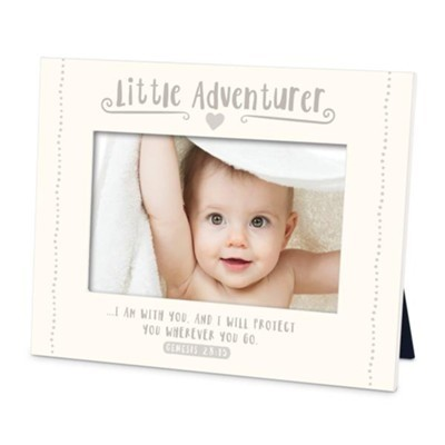 Little Adventurer cream photo frame MDF Genesis 28:15