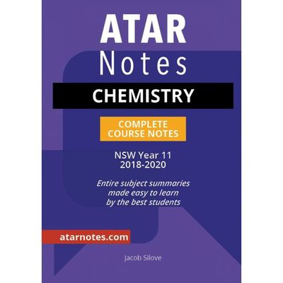 ATAR Notes: Year 11 Chemistry Complete Course Notes