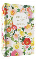 Floral One Line a Day : A Five-year Memory Book
