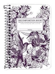 Hummingbirds Spiral Pocket Ruled Decomposition Notebook