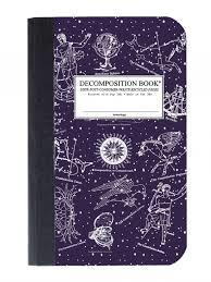 Decomposition Celestial Pocket Ruled Notebook