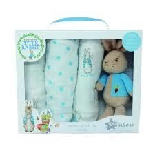 Peter Rabbit Soft toy and Muslins set