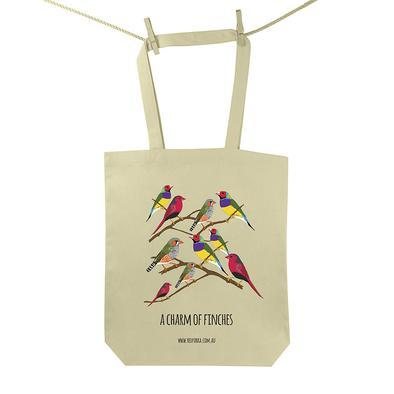 Charm of Finches tote bag