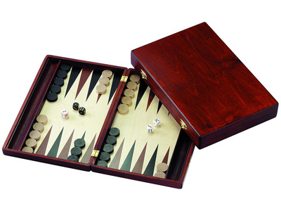 Backgammon 15 inch Wood Folding