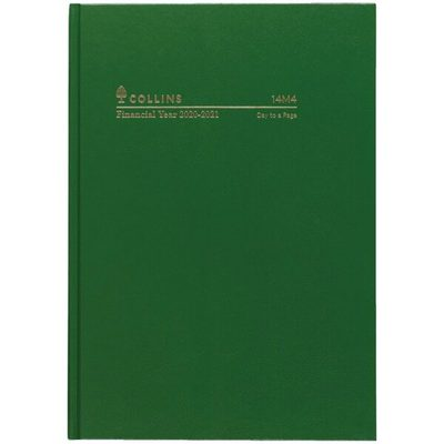 2020/21 A4 DTP Green Casebound FY Diary (14M4.P40-2021)