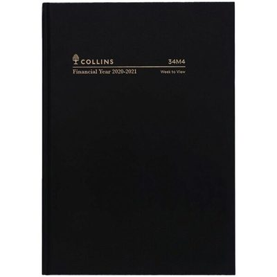 2020/21 A4 WTO Black Casebound FY Diary (34M4.P99-2021)