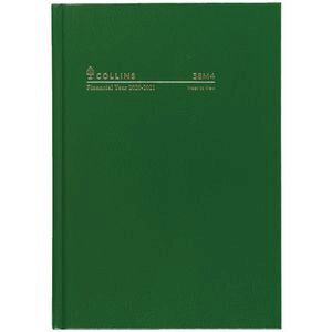 2020/21 A5 WTO Green Casebound FY Diary (38M4.P40-2021)