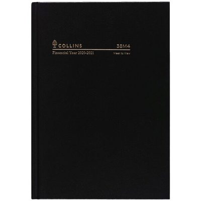2020/21  A5 WTO Black Casebound FY Diary (38M4.P99-2021)