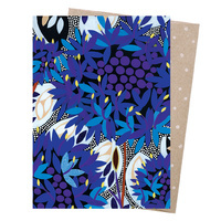 Native Blue Cornflower Blank Card