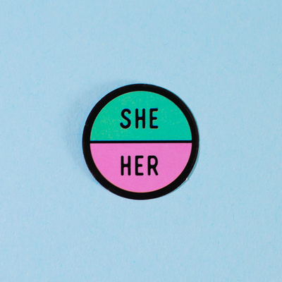 Sticker – She/Her (Proud Minority)