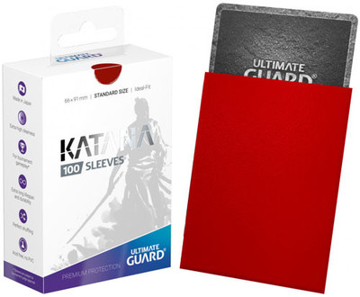 Ultimate Guard Katana Standard Sleeves Red 100