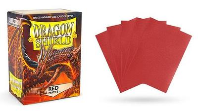 MATTE RED DRAGON SHIELD SLEEVES 100CT