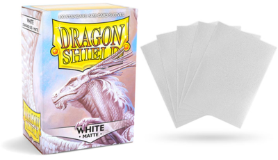 MATTE WHITE DRAGON SHIELD SLEEVES 100CT
