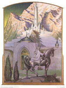 Large steve hickman citadel at sunrise gandalf approaching minas tirith u l f7obr20