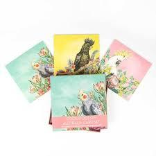 Deluxe card set cockatoos of Australia