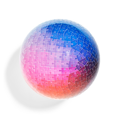 3D Colours Sphere Puzzle 540 Pieces - by Clemens Habicht